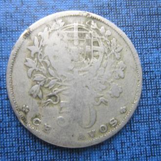монета 50 сентаво Португалия 1928 нечастый год