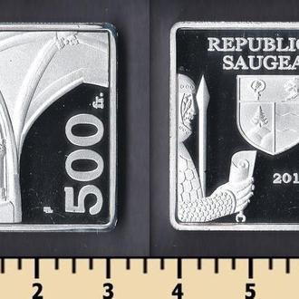 Республика Соже 500 франков 2018
