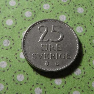 Швеция 1962 год монета 25 эре !