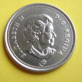 КАНАДА - 2006 год МОНЕТА 25 ЦЕНТОВ