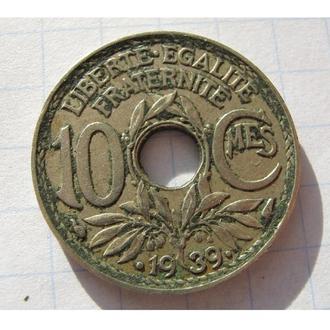 10 ЦЕНТ 1939 ФРАНЦІЯ