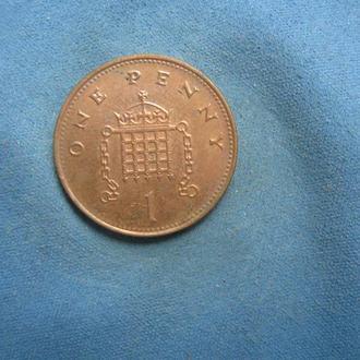 Великобритания 1 пенни 1999 год