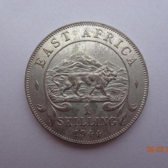 Британская Восточная Африка 1 шиллинг 1944H George VI серебро СУПЕР состояние очень редкая