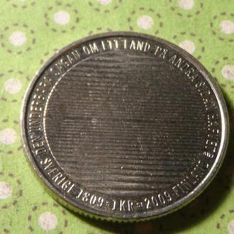 Швеция 2009 год монета 1 крона !