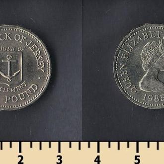 Джерси остров 1 фунт 1985