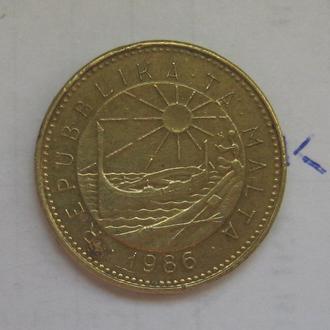 МАЛЬТА 1 цент 1986 года.