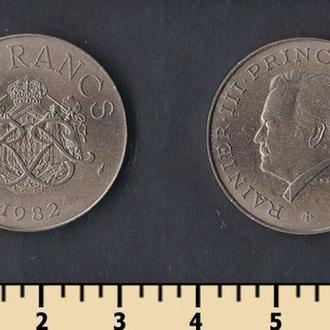 Монако 10 франков 1982