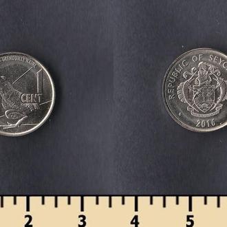 Сейшельские острова 1 цент 2016