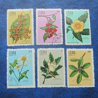 6 марок Куба 1970 флора цветы полная серия гаш