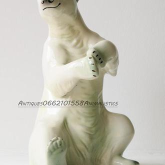 Фарфоровая статуэтка фарфор Katzhutte Германия Белый медведь