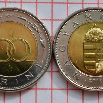 Венгрия 100 форинтов 2017 новый тип