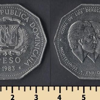 Доминиканская республика 1 песо 1983