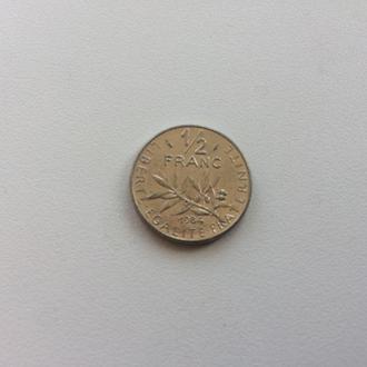 Франция 1/2 франка 1984