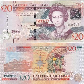 Eastern Caribbean St. Карибские Острова Карибы - 20 Dollars 2016 UNC JavirNV