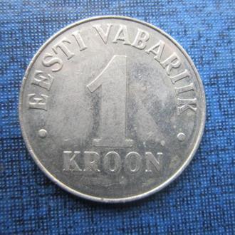 монета 1 крона Эстония 1995