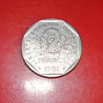 2 франка 1981 г Франция