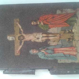 Старинная металлическая обложка к Библии.
