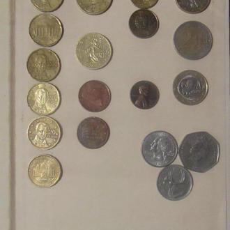 Сборный лот Евроценты и монеты Мира