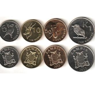 Zambia / Замбия - набор 4 монеты 2012 - UNC - Миралот