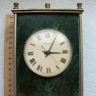Часы каминные Молния в малахите, 40-50гг.