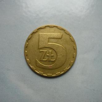 Польша 5 злотых 1987 Y#81.2