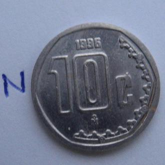 МЕКСИКА, 10 сентаво 1996 г.