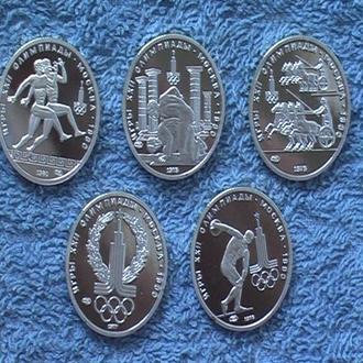 Набор монет Олимпиада-80 150 руб 6 шт. Копии