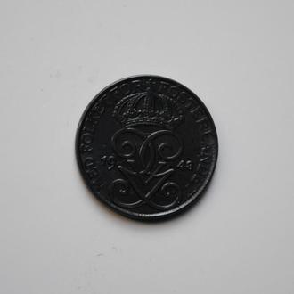 Швеция 1 эре 1948 г., UNC