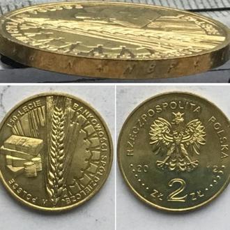 Польша 2 злотых, 2012г 150 лет банковскому сотрудничеству Польши / Юбилейные монеты