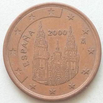 (А) Испания 5 евроцентов евро центов 2000