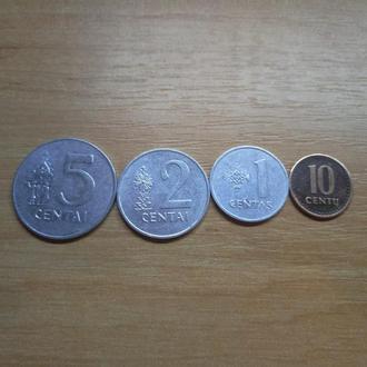 Литва набор 1991 1 2 5 10 центос