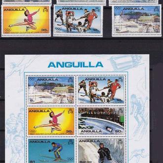 ЗОИ .  Anguilla / Ангилья 1980 г MNH - СЕРИЯ -  LP USA