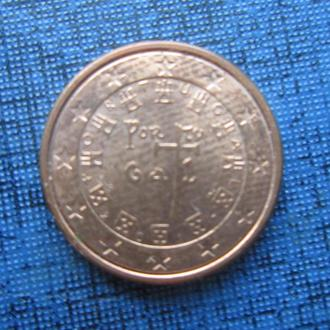 монета 1 евроцент Португалия 2017