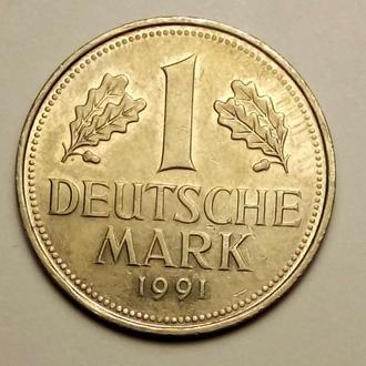 1 марка 1991 года ( D ) - Германия - CОСТОЯНИЕ !!! а2