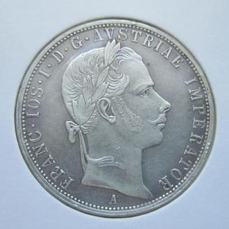 монета 1 флорин Австро-Венгрия 1858 А серебро состояние