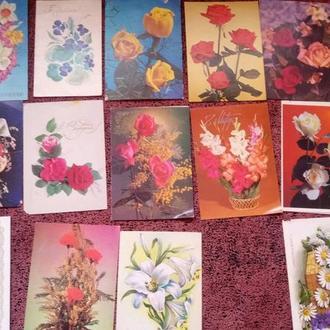 Набор открыток 8 марта. цветы