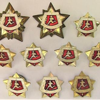 Значки 10 штук СССР разные Лот А 154