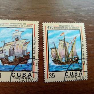 Куба 1982 Парусники