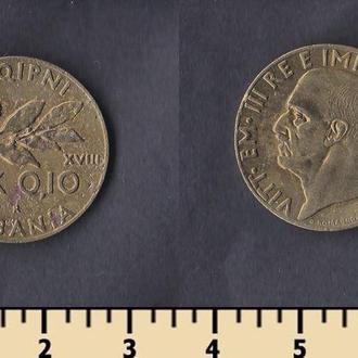 АЛБАНИЯ 0,1 ЛЕКА 1940