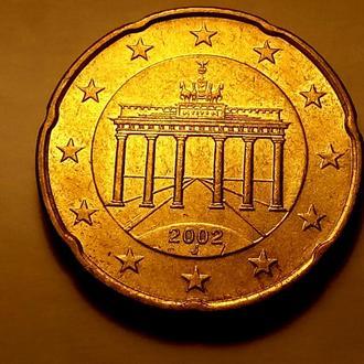 20 евро центов 2002 года - J, Германия - а