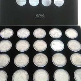 Подарочный сувенирный набор медалей Евро 2012 20 шт. в футляре