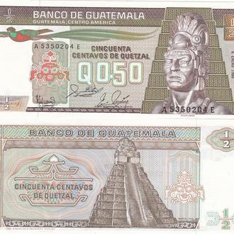 Guatemala Гватемала - 1/2 Quetzal 1988 UNC JavirNV