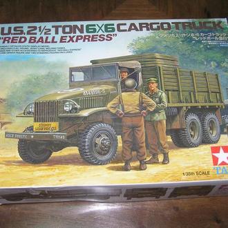Tamiya 89648 US 2 1/2ton 6x6 Cargo Truck Red Ball Express 1:35