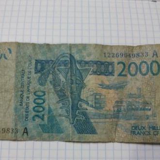 Западная Африка 2000 франков