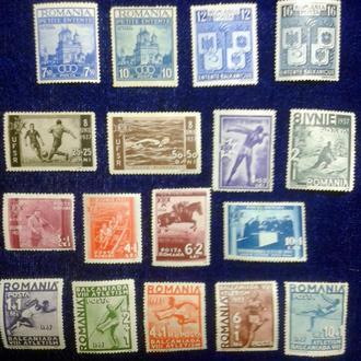 Румыния=1930гг  Довоенный спорт - 4 полных серии