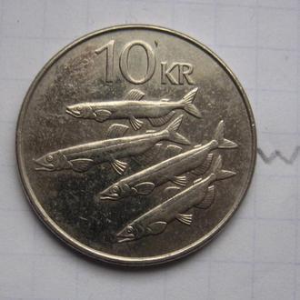 ИСЛАНДИЯ, 10 крон 2008 г. (РЫБЫ).