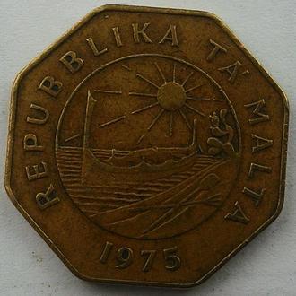 Мальта, 25 центов 1975 год Латунь, дм 30 мм, вес 10,55 г СОСТОЯНИЕ!!!!