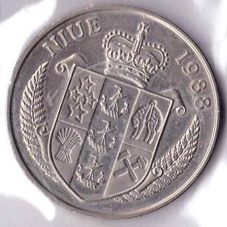Ниуэ 1988 г - 5 долларов - 2а скана
