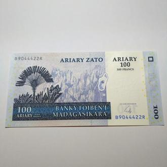 Мадагаскар 100 ариари 2008 пресс, unc