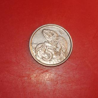 5 центов 1975 г Н Зеландия